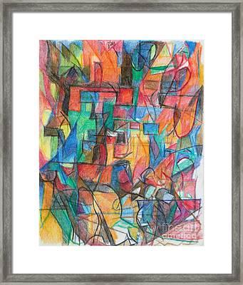 The Letter Tav 2 Framed Print by David Baruch Wolk