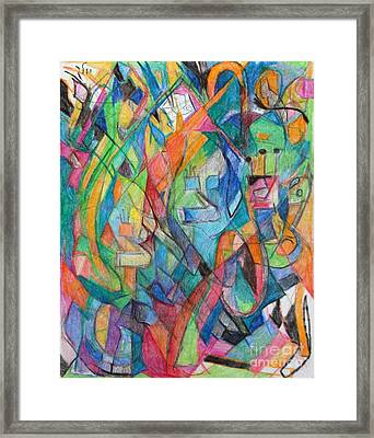 the letter Tzadi 2 Framed Print by David Baruch Wolk