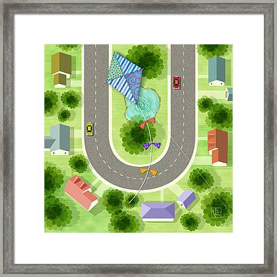 The Letter U For U Turn Framed Print by Valerie Drake Lesiak