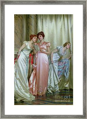 The Letter Framed Print by Vittorio Reggianini