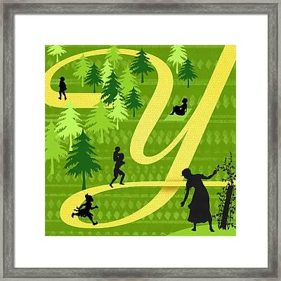 The Letter Y Framed Print by Valerie Drake Lesiak