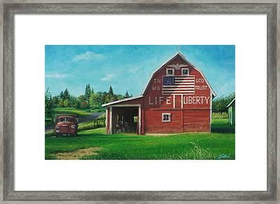 The Liberty Barn Framed Print by Craig Shillam