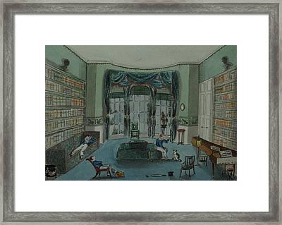 The Library, C.1820, Battersea Rise Framed Print by English School