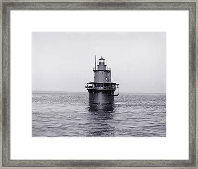 The Lighthouse Circa 1906 Framed Print by Aged Pixel