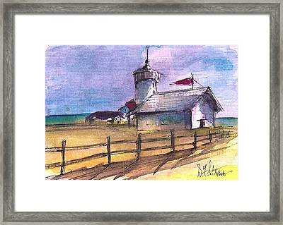 The Lighthouse Framed Print by Diane Strain