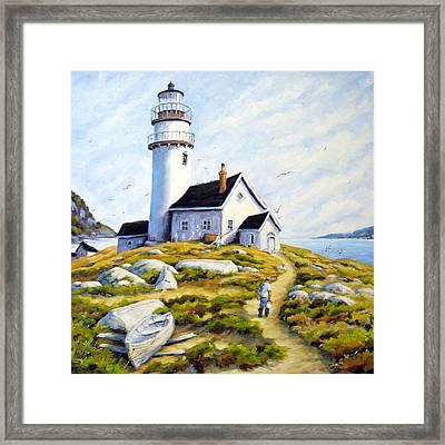 The Lighthouse Keeper Framed Print by Richard T Pranke