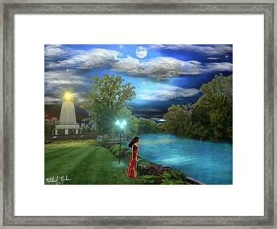 The Lighthouse Framed Print by Michael Rucker