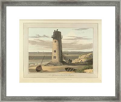 The Lighthouse On Point Of Air Framed Print by British Library