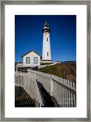the Lighthouse Framed Print by Steven Reed