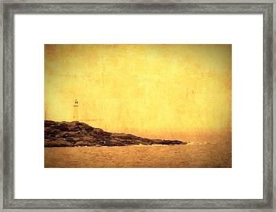 The Lighthouse Framed Print by Toppart Sweden