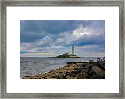 The Lighthouse Framed Print by Trevor Kersley