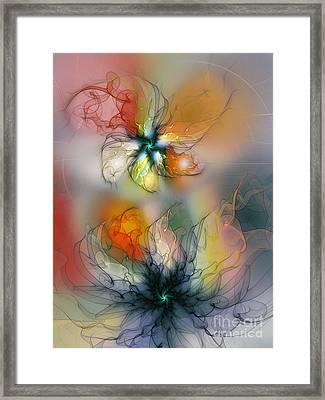 The Lightness Of Being-abstract Art Framed Print by Karin Kuhlmann
