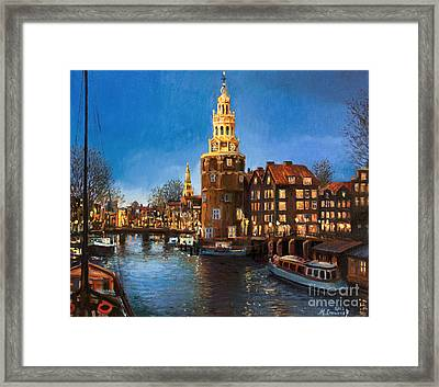 The Lights Of Amsterdam Framed Print by Kiril Stanchev