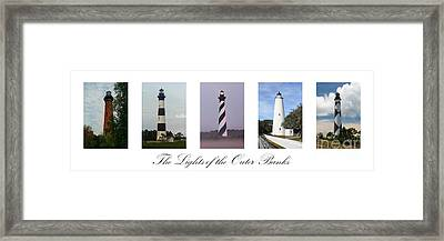 The Lights Of The Outer Banks Framed Print by Tony Cooper