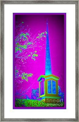 The Lights On Framed Print by Bobbee Rickard