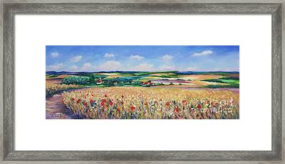 The Lincolnshire Wolds Framed Print by John Clark