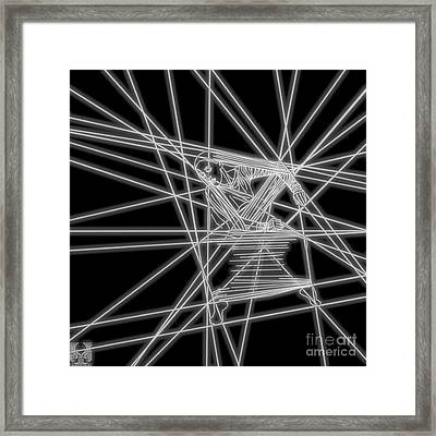 The Lines Of Martha Graham L Bw Framed Print by Dale Crum