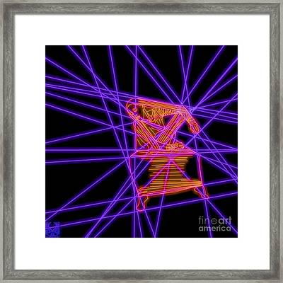 The Lines Of Martha Graham L Framed Print by Dale Crum