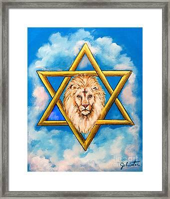 The Lion Of Judah #5 Framed Print by Bob and Nadine Johnston