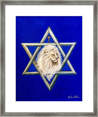 The Lion Of Judah #6 Framed Print by Bob and Nadine Johnston