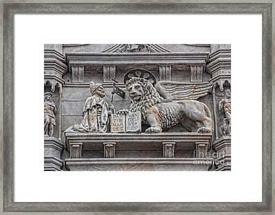 The Lion Of Saint Mark II Framed Print by Lee Dos Santos