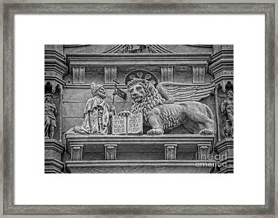 The Lion Of Saint Mark Framed Print by Lee Dos Santos