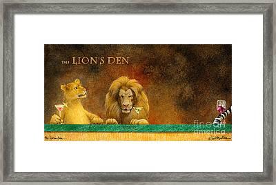 The Lion's Den... Framed Print by Will Bullas