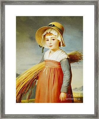 The Little Gleaner Framed Print by Christophe Thomas Degeorge