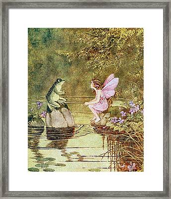 The Little Green Road To Fairyland  Framed Print by Ida Rentoul Outhwaite