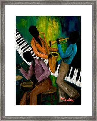 The Little Jazz Trio II Framed Print by Larry Martin