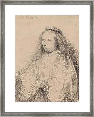 The Little Jewish Bride Framed Print by Rembrandt
