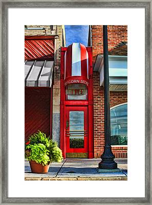 The Little Popcorn Shop In Wheaton Framed Print by Christopher Arndt