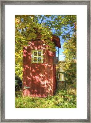 The Little Red House Framed Print by Veikko Suikkanen