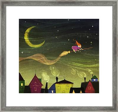 The Little Witch Framed Print by Kristina Vardazaryan