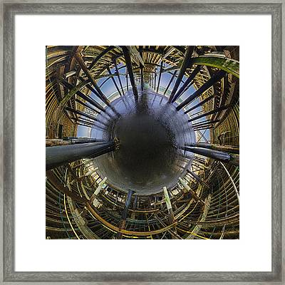 The Little World Under The Pier Framed Print by Scott Campbell