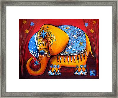 The Littlest Elephant Framed Print by Karin Taylor