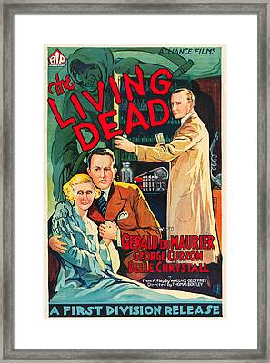 The Living Dead Framed Print by MMG Archives