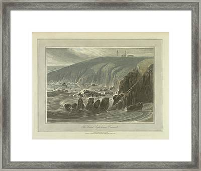 The Lizard Light-houses Framed Print by British Library
