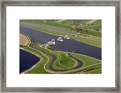 The Lock And Weir Complex Amerongen Framed Print by Bram van de Biezen