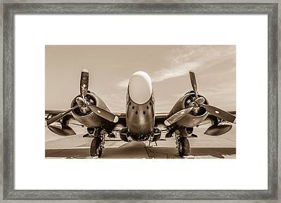 The Lockheed Pv-2d Harpoon Framed Print by Sarit Sotangkur