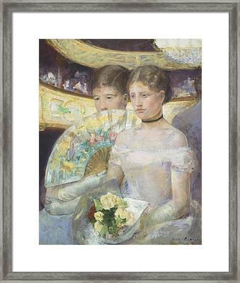 The Loge Framed Print by Mary Stevenson Cassatt