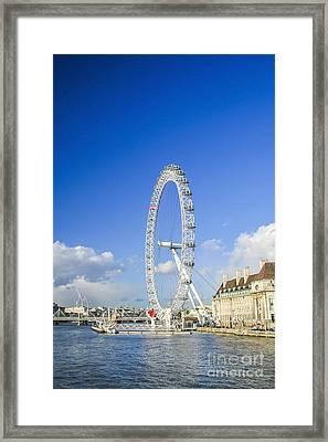 The London Eye Framed Print by Patricia Hofmeester