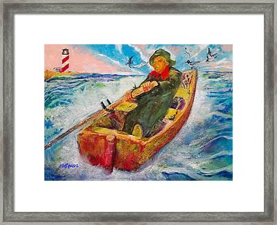 The Lone Boatman Framed Print by Seth Weaver