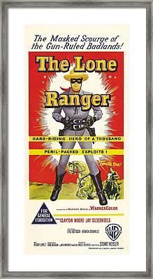 The Lone Ranger, Australian Poster Art Framed Print by Everett