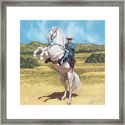 The Lone Ranger Framed Print by Dick Bobnick