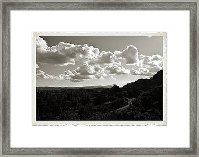 The Lonely Track Framed Print by Cindy Nunn
