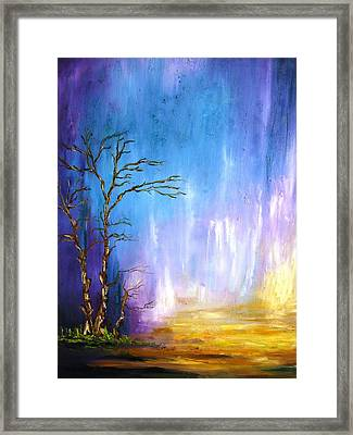 The Lonely Tree Framed Print by Doris Cohen