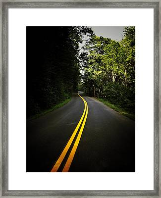 The Long And Winding Road Framed Print by Natasha Marco