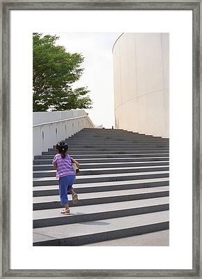 The Long Climb Framed Print by Frank Romeo