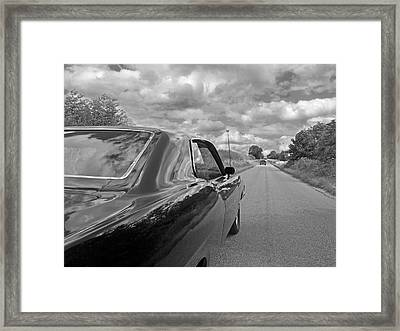 The Long Road Home - Ford Torino Cobra Jet Framed Print by Gill Billington